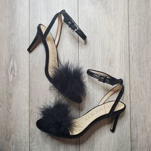 Sole Society Lindzay black feather heel